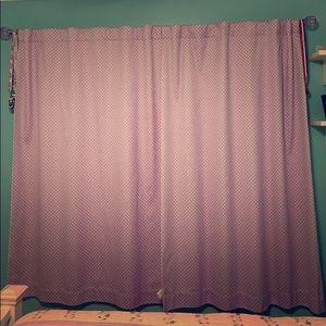 Pottery Barn Kids PBK purple dot blackout curtains